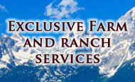 EXCLUSIVE FARM AND RANCH SERVICES logo