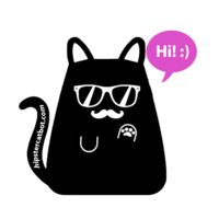 Mica, the Hipster Cat Bot logo