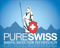 PURE SWISS mineral water logo