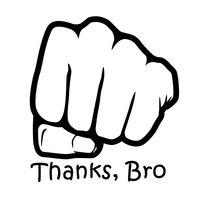thanks bro logo